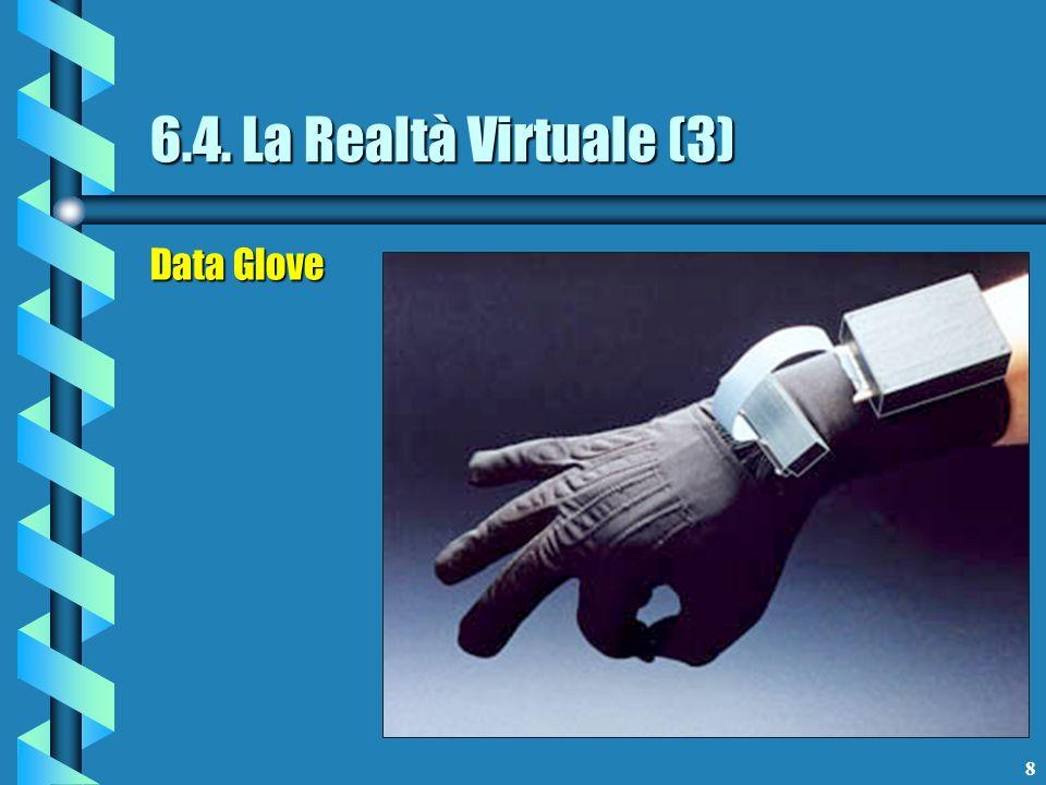 9 6.4. La Realtà Virtuale (4) Data Glove con Force Feedback