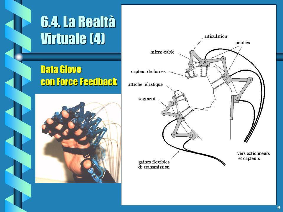 10 6.4. La Realtà Virtuale (5) VRML e altri linguaggi