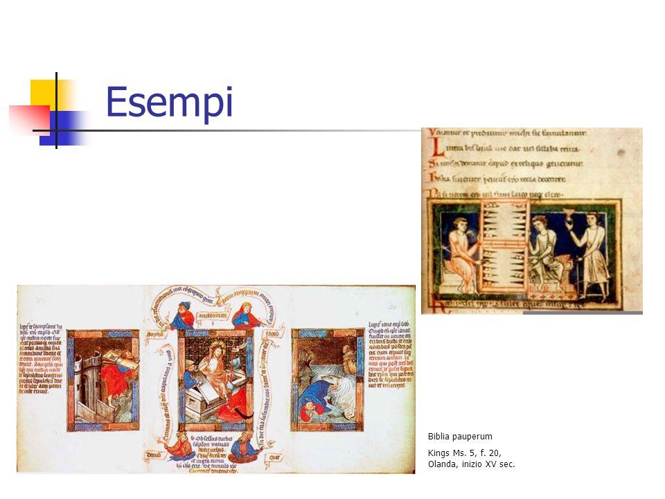 Disposizione del testo Dal XII secolo il commento affianca il testo, così come lillustrazione Bibbia glossata Troyes, Bibl.