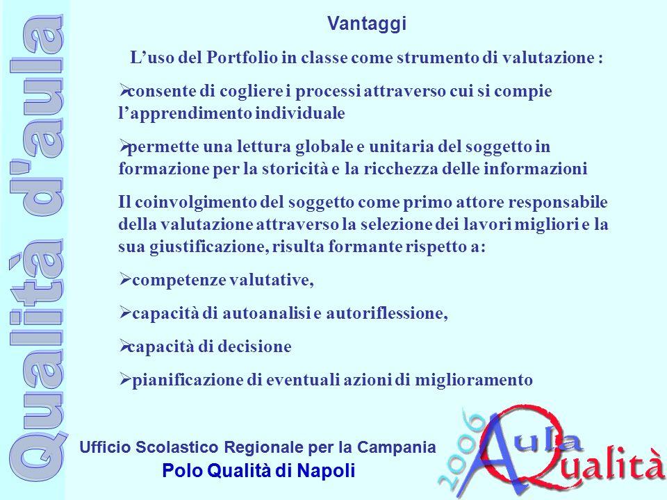 Ufficio Scolastico Regionale per la Campania Polo Qualità di Napoli Ufficio Scolastico Regionale per la Campania Polo Qualità di Napoli Vantaggi Luso