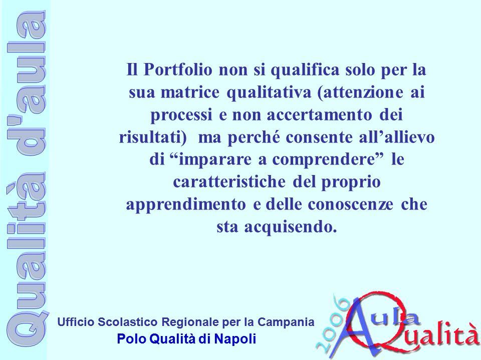 Ufficio Scolastico Regionale per la Campania Polo Qualità di Napoli Ufficio Scolastico Regionale per la Campania Polo Qualità di Napoli Il Portfolio n