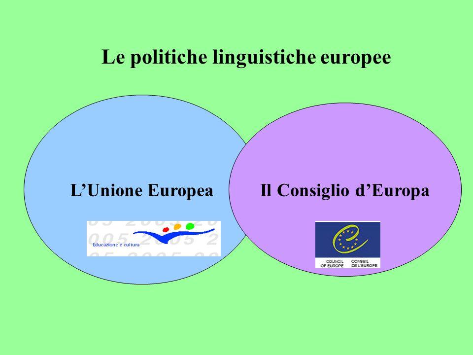 1990 progetto LINGUA 1992 Trattati di Maastricht 1995 Libro Bianco …una buona conoscenza di 3 lingue comunitarie Istituzione dei programmi SOCRATES 2001 Anno Europeo delle Lingue 2002 CLIL/EMILE, the European Dimension… Unione Europea http://europa.eu.int Pietre miliari
