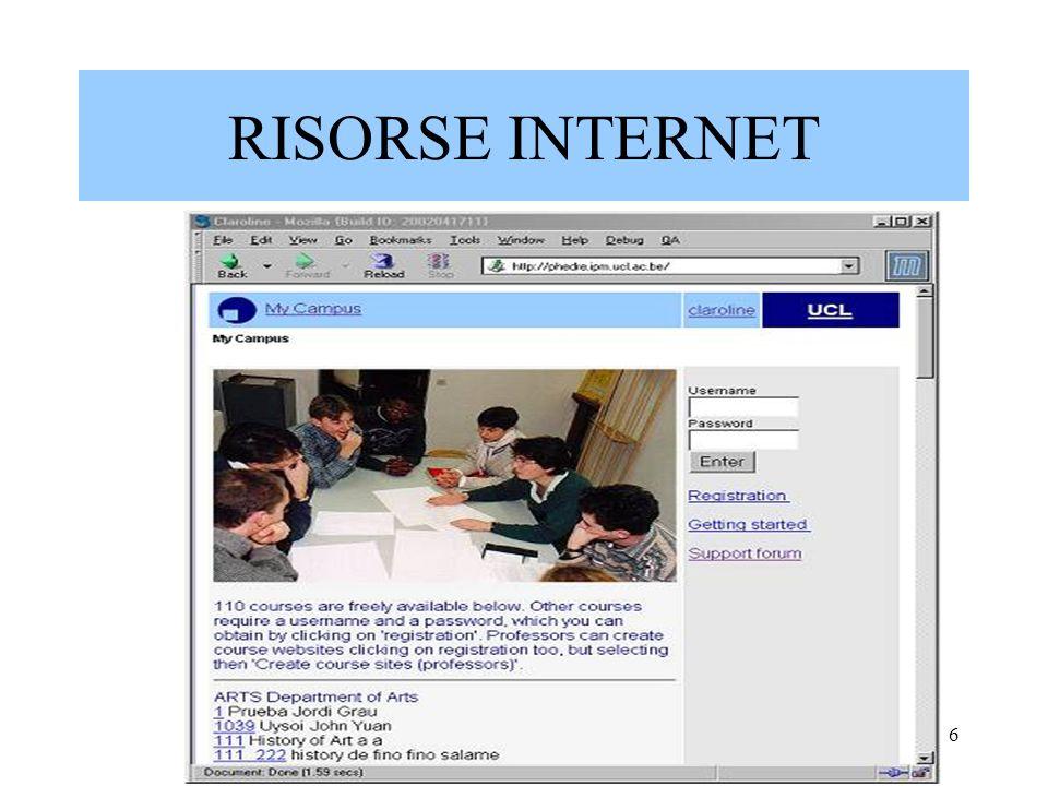 Marina Fumagalli- Liceo Arnaldo6 RISORSE INTERNET