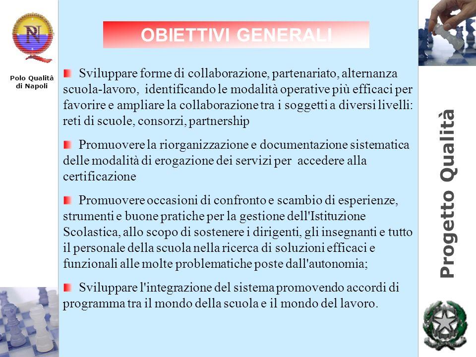 Progetto Qualità Polo Qualità di Napoli Sviluppare forme di collaborazione, partenariato, alternanza scuola-lavoro, identificando le modalità operativ