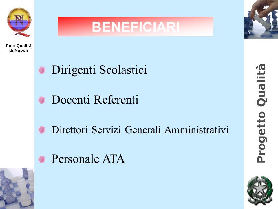 Progetto Qualità Polo Qualità di Napoli Dirigenti Scolastici Docenti Referenti Direttori Servizi Generali Amministrativi Personale ATA BENEFICIARI