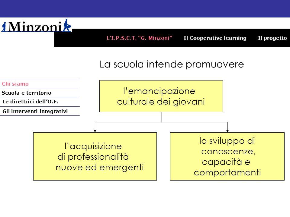 LI.P.S.C.T. G. Minzoni Il Cooperative learning Il progetto La scuola intende promuovere lemancipazione culturale dei giovani lacquisizione di professi