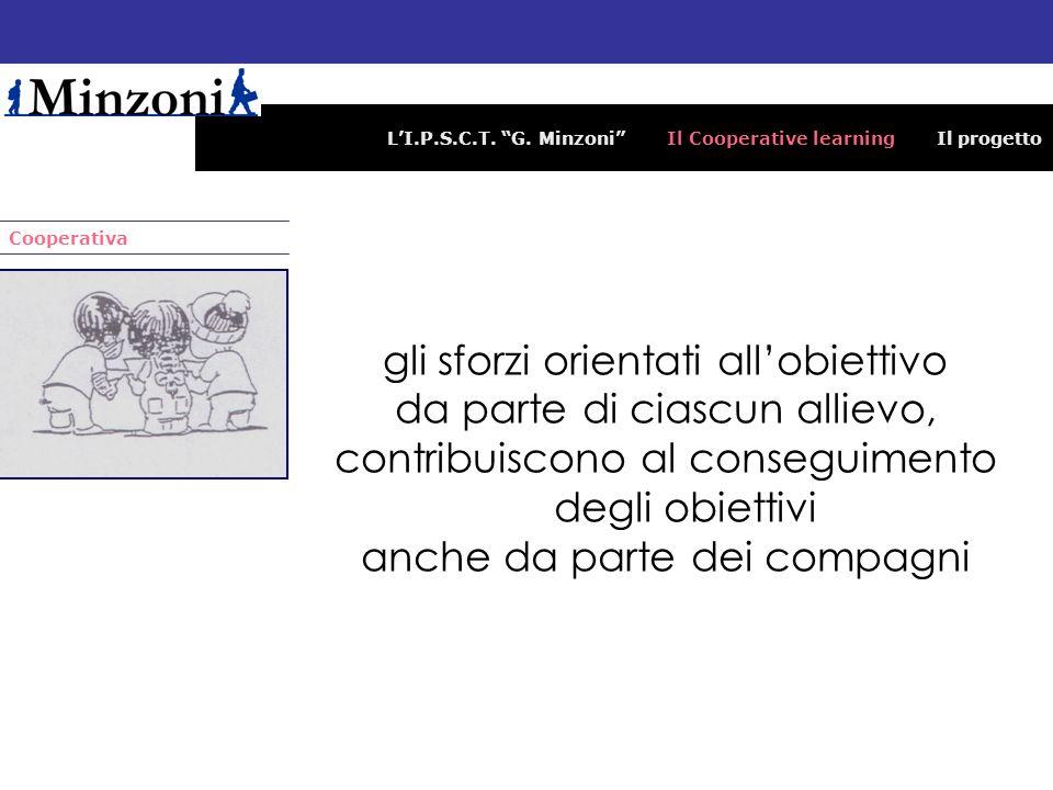 LI.P.S.C.T. G. Minzoni Il Cooperative learning Il progetto Cooperativa gli sforzi orientati allobiettivo da parte di ciascun allievo, contribuiscono a