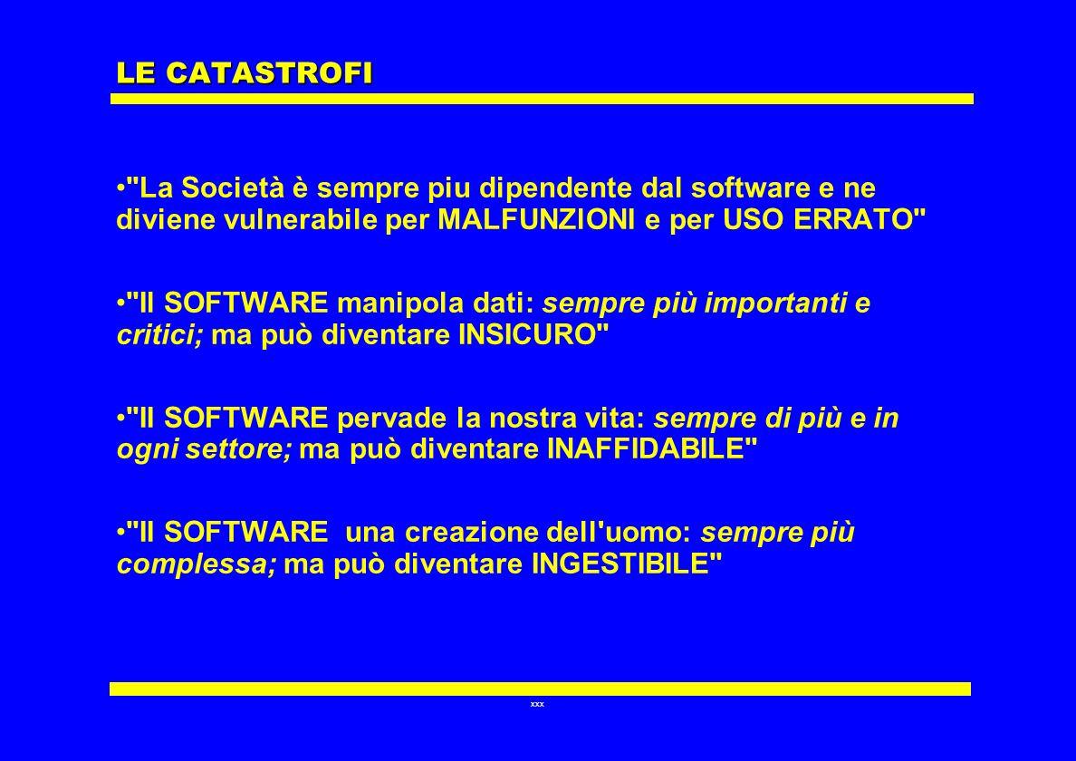 xxx LE CATASTROFI