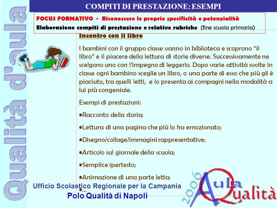 Ufficio Scolastico Regionale per la Campania Polo Qualità di Napoli Incontro con il libro I bambini con il gruppo classe vanno in biblioteca e scopron