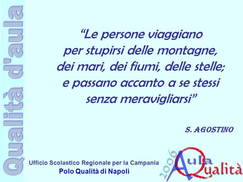 Ufficio Scolastico Regionale per la Campania Polo Qualità di Napoli Le persone viaggiano per stupirsi delle montagne, dei mari, dei fiumi, delle stell