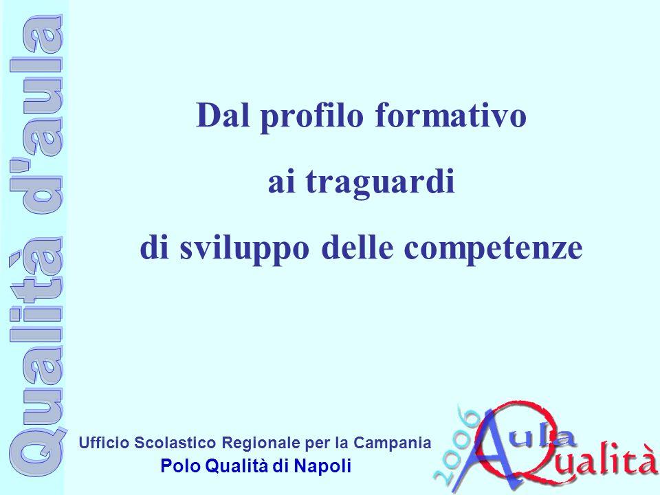 Ufficio Scolastico Regionale per la Campania Polo Qualità di Napoli Dal profilo formativo ai traguardi di sviluppo delle competenze