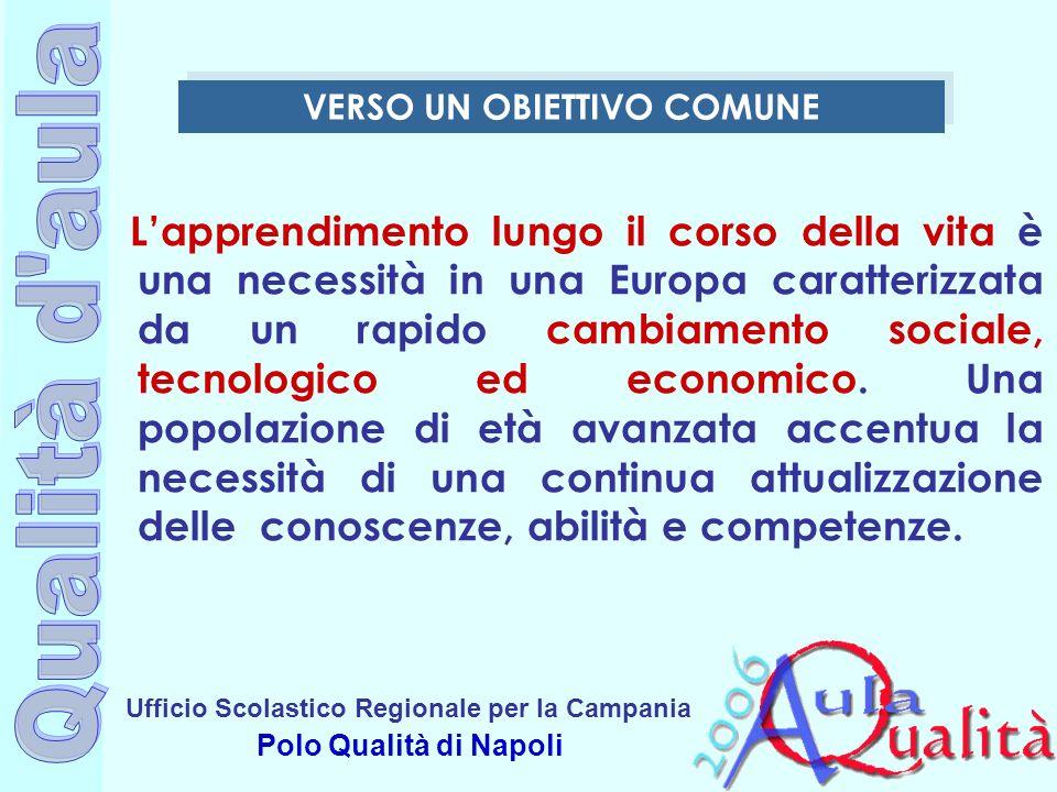 Ufficio Scolastico Regionale per la Campania Polo Qualità di Napoli Lapprendimento lungo il corso della vita è una necessità in una Europa caratterizz