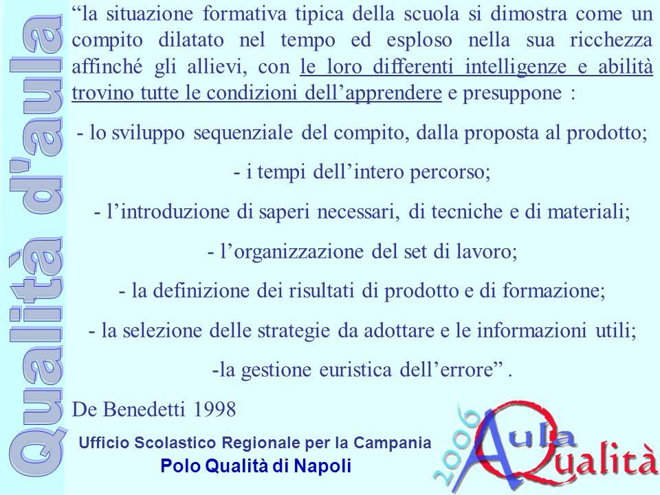 Ufficio Scolastico Regionale per la Campania Polo Qualità di Napoli la situazione formativa tipica della scuola si dimostra come un compito dilatato n