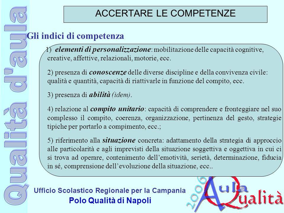 Ufficio Scolastico Regionale per la Campania Polo Qualità di Napoli 1) elementi di personalizzazione : mobilitazione delle capacità cognitive, creativ
