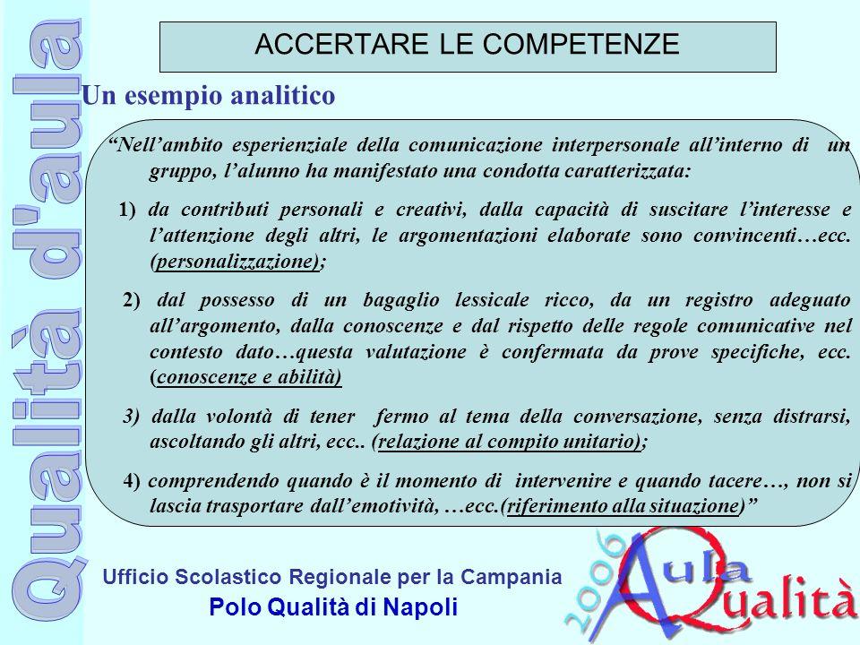 Ufficio Scolastico Regionale per la Campania Polo Qualità di Napoli Nellambito esperienziale della comunicazione interpersonale allinterno di un grupp