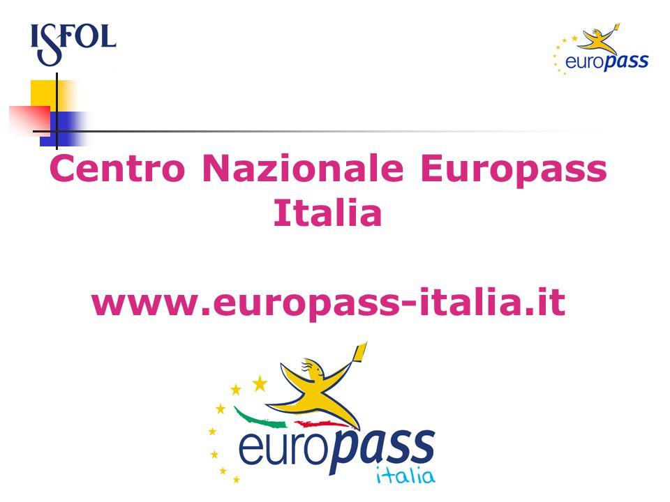 Centro Nazionale Europass Italia www.europass-italia.it
