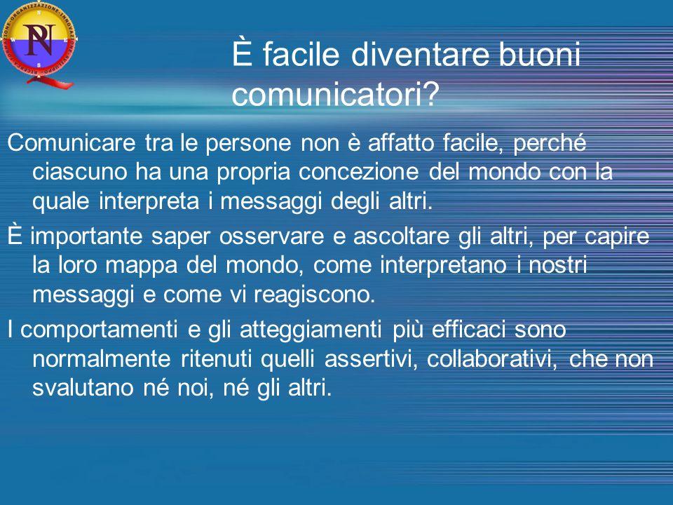 È facile diventare buoni comunicatori? Comunicare tra le persone non è affatto facile, perché ciascuno ha una propria concezione del mondo con la qual