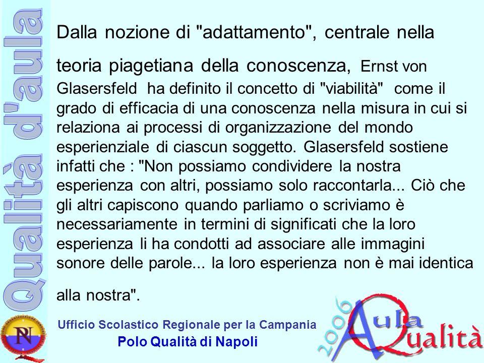 Ufficio Scolastico Regionale per la Campania Polo Qualità di Napoli Dalla nozione di