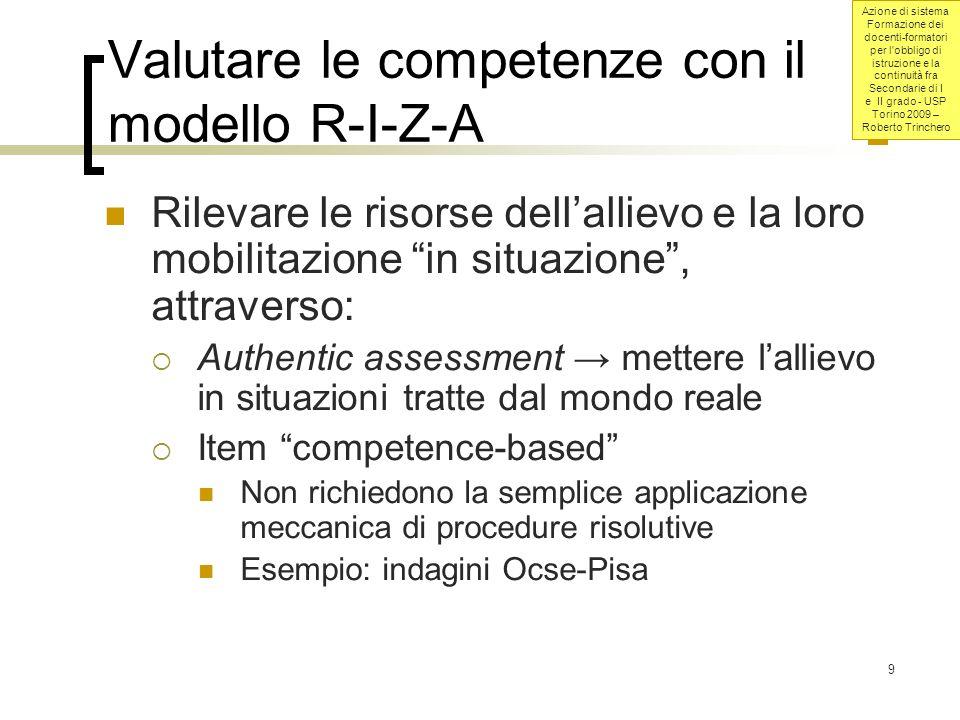 Azione di sistema Formazione dei docenti-formatori per l obbligo di istruzione e la continuità fra Secondarie di I e II grado - USP Torino 2009 – Roberto Trinchero 40