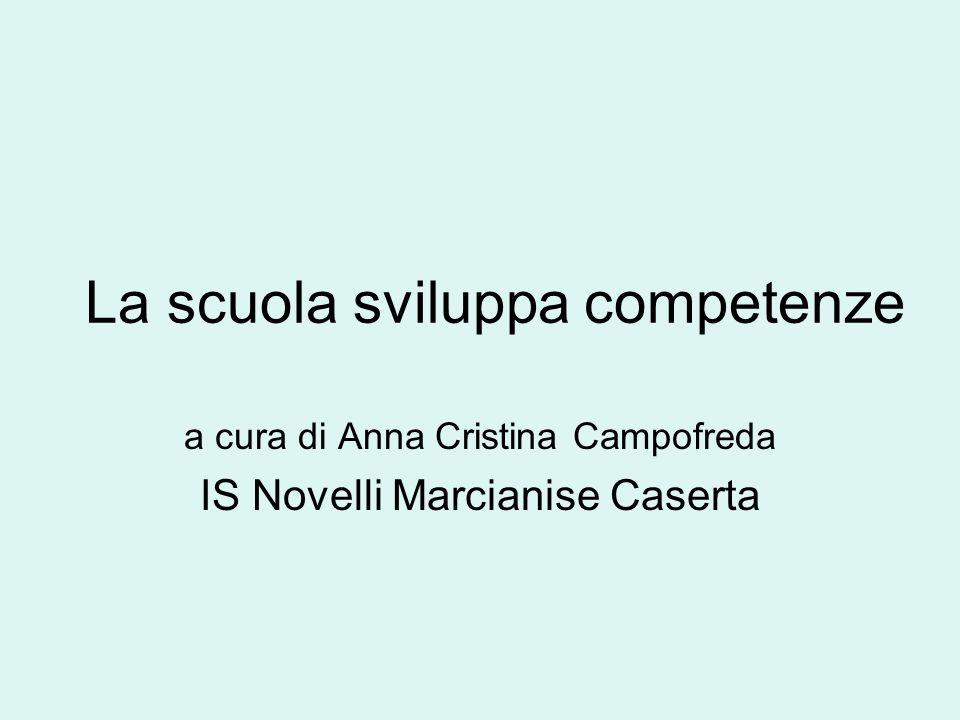 La scuola sviluppa competenze a cura di Anna Cristina Campofreda IS Novelli Marcianise Caserta