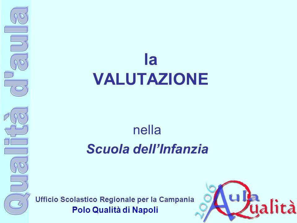 Ufficio Scolastico Regionale per la Campania Polo Qualità di Napoli la VALUTAZIONE nella Scuola dellInfanzia
