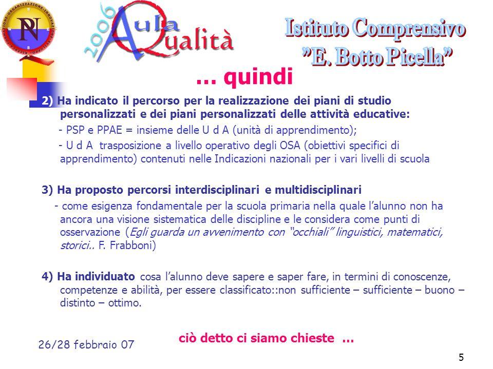 Liceo Scientifico G.da Procida Salerno, 23 febbraio 20076 Cosa valutiamo .