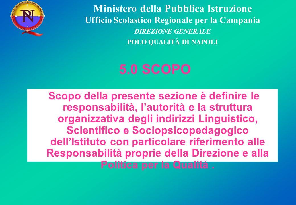 Ministero della Pubblica Istruzione Ufficio Scolastico Regionale per la Campania DIREZIONE GENERALE POLO QUALITÀ DI NAPOLI 5.1.