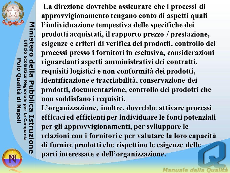 7.5Produzione ed erogazione di servizi Lalta direzione dovrebbe andare oltre il controllo sui processi di produzione, sia per conseguire conformità ai requisiti sia per apportare benefici alle parti interessate.