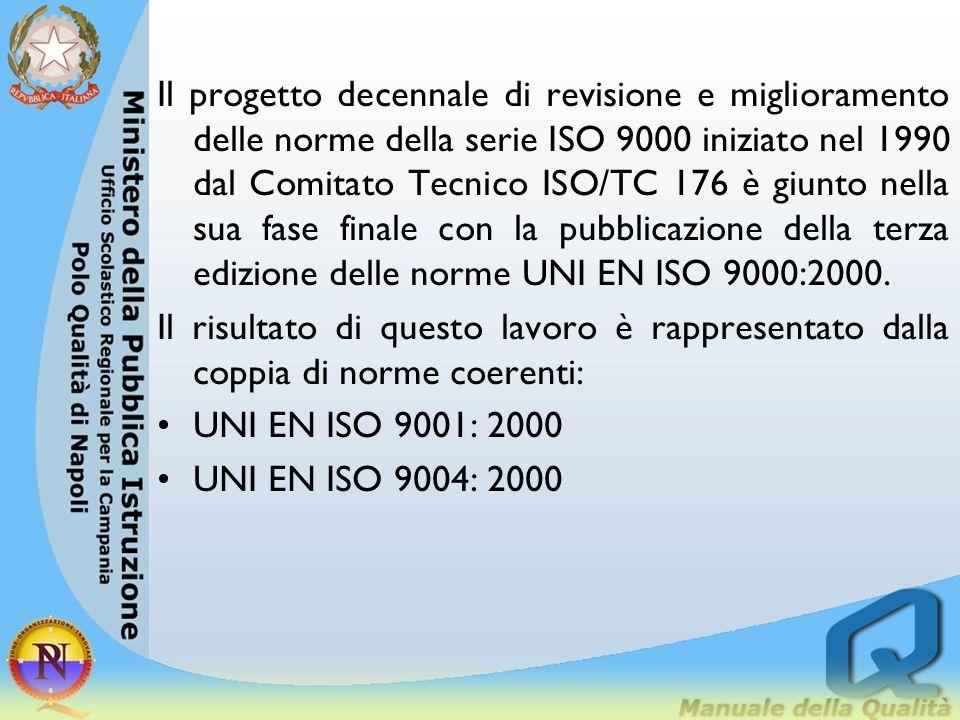 Il progetto decennale di revisione e miglioramento delle norme della serie ISO 9000 iniziato nel 1990 dal Comitato Tecnico ISO/TC 176 è giunto nella s