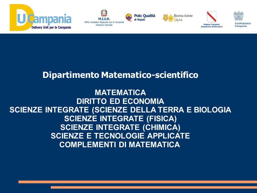 Dipartimento Tecnologico MATEMATICA SCIENZE INTEGRATE (FISICA) SCIENZE INTEGRATE (CHIMICA) TECNOLOGIE E TECNICHE DI RAPPRESENTAZIONE GRAFICA TECNOLOGIE INFORMATICHE SCIENZE E TECNOLOGIE APPLICATE COMPLEMENTI DI MATEMATICA SISTEMI E RETI TECNOLOGIE E PROGETTAZIONE DI SISTEMI INFORMATICI E DI TELECOMUNICAZIONI INFORMATICA