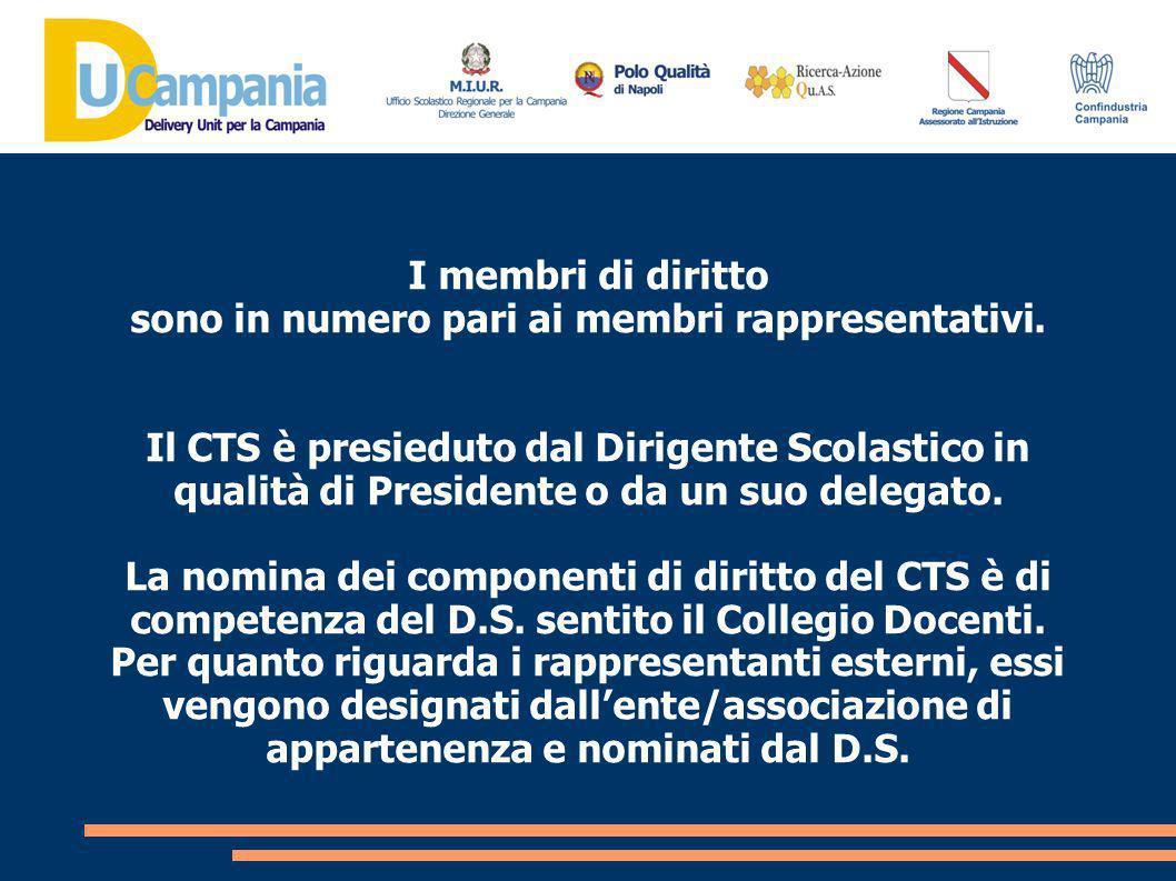 Possono essere chiamati a partecipare alle riunioni del CTS, a titolo consultivo tutti gli specialisti di cui si dovesse ravvisare lopportunità