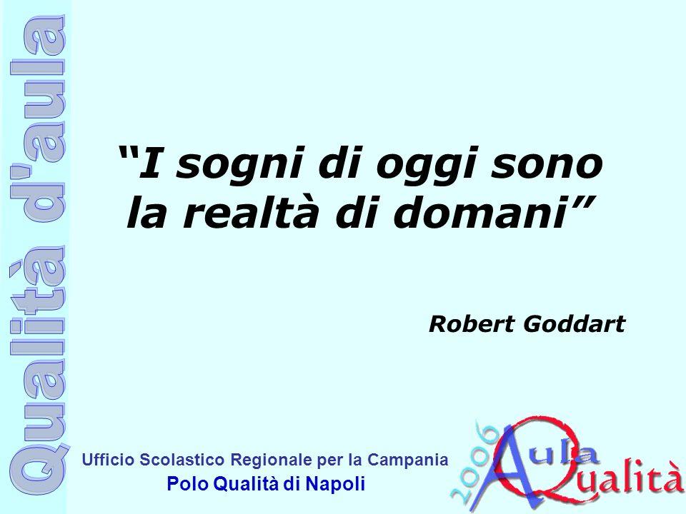 Ufficio Scolastico Regionale per la Campania Polo Qualità di Napoli I sogni di oggi sono la realtà di domani Robert Goddart