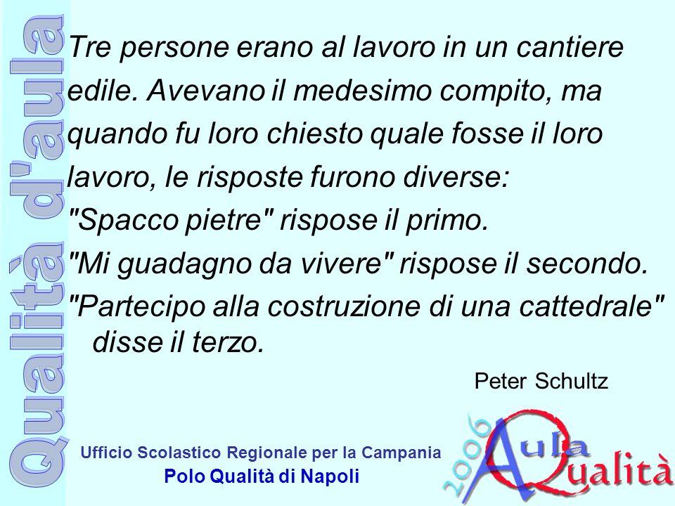 Ufficio Scolastico Regionale per la Campania Polo Qualità di Napoli Tre persone erano al lavoro in un cantiere edile. Avevano il medesimo compito, ma