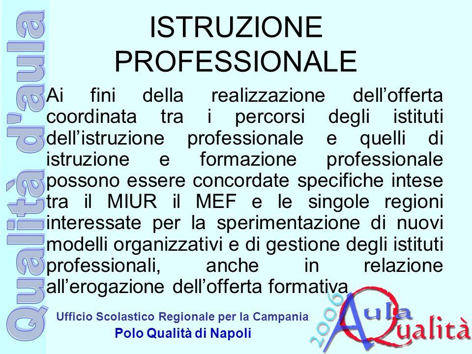 Ufficio Scolastico Regionale per la Campania Polo Qualità di Napoli ISTRUZIONE PROFESSIONALE Ai fini della realizzazione dellofferta coordinata tra i