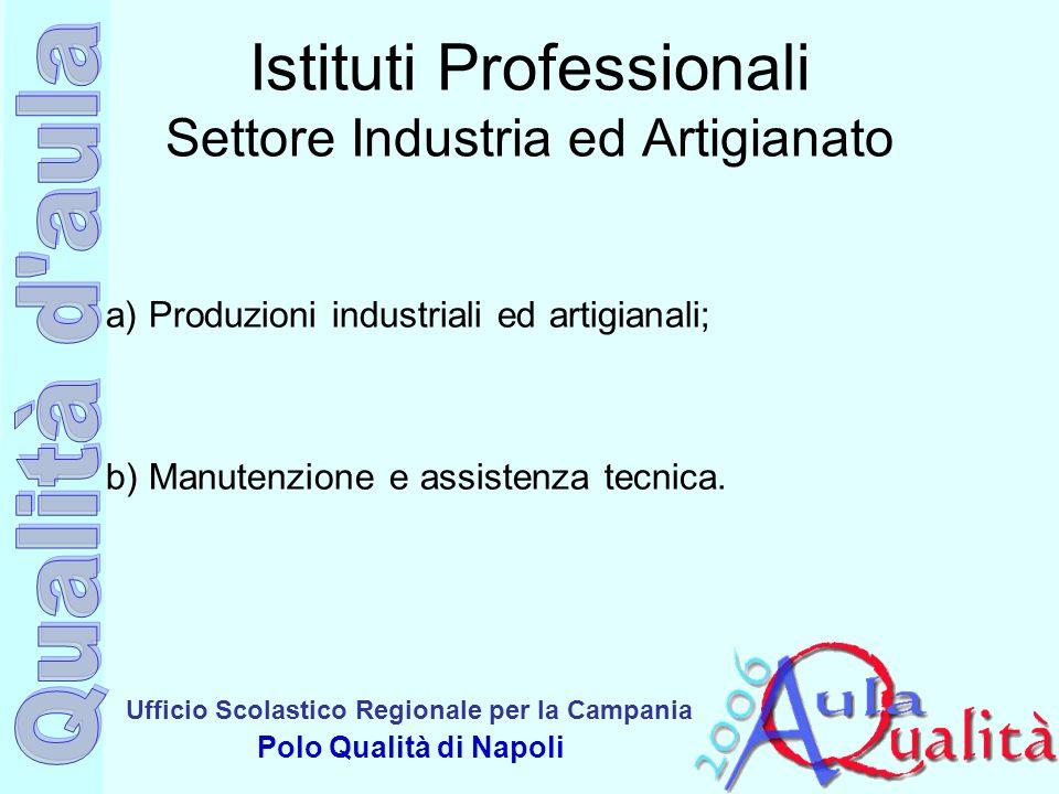 Ufficio Scolastico Regionale per la Campania Polo Qualità di Napoli Istituti Professionali Settore Industria ed Artigianato a) Produzioni industriali