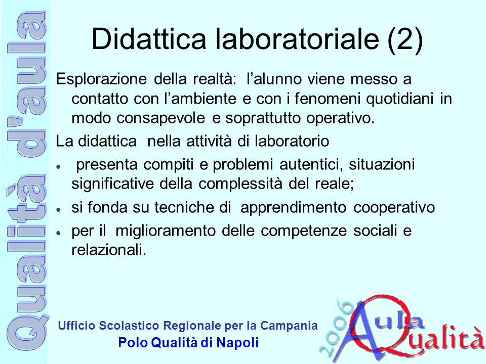 Ufficio Scolastico Regionale per la Campania Polo Qualità di Napoli Didattica laboratoriale (2) Esplorazione della realtà: lalunno viene messo a conta
