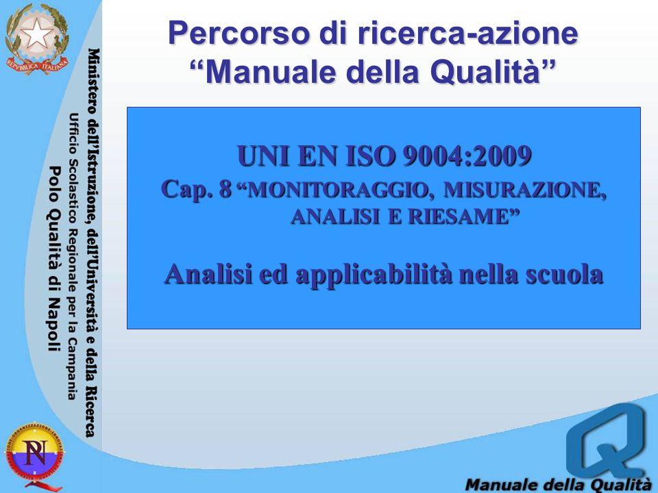 Percorso di ricerca-azione Manuale della Qualità UNI EN ISO 9004:2009 Cap.