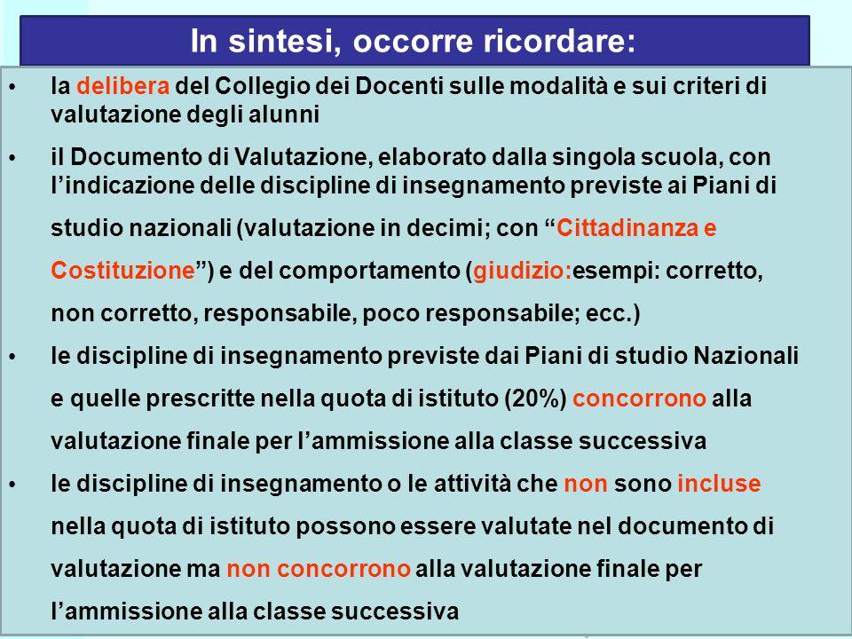 Ufficio Scolastico Regionale per la Campania Polo Qualità di Napoli In sintesi, occorre ricordare: la delibera del Collegio dei Docenti sulle modalità