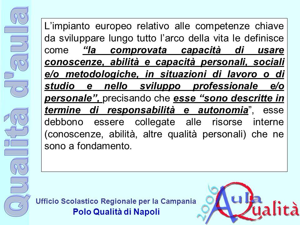 Ufficio Scolastico Regionale per la Campania Polo Qualità di Napoli Limpianto europeo relativo alle competenze chiave da sviluppare lungo tutto larco