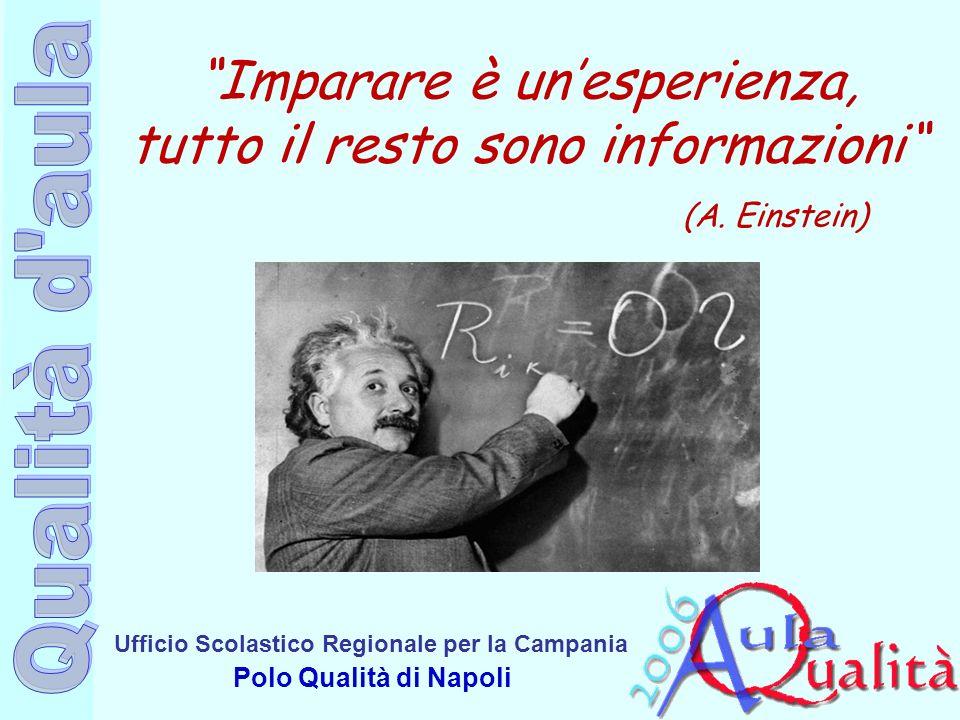 Ufficio Scolastico Regionale per la Campania Polo Qualità di Napoli Imparare è unesperienza, tutto il resto sono informazioni (A. Einstein)