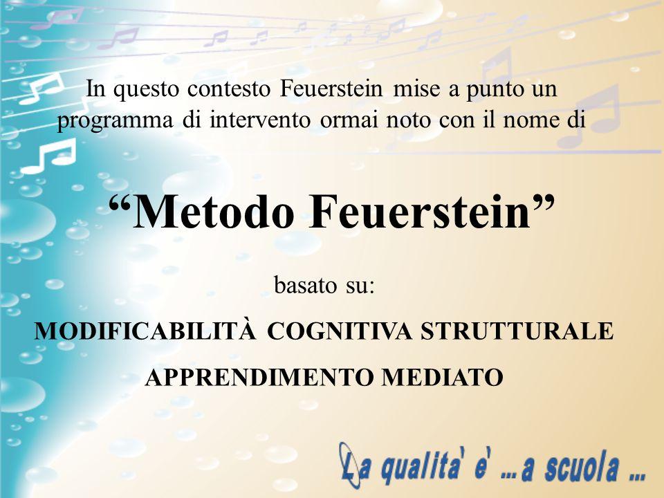 In questo contesto Feuerstein mise a punto un programma di intervento ormai noto con il nome di Metodo Feuerstein basato su: MODIFICABILITÀ COGNITIVA