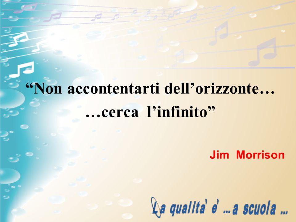 Non accontentarti dellorizzonte… …cerca linfinito Jim Morrison