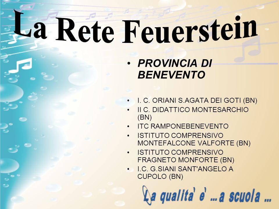 PROVINCIA DI BENEVENTO I. C. ORIANI S.AGATA DEI GOTI (BN) II C. DIDATTICO MONTESARCHIO (BN) ITC RAMPONEBENEVENTO ISTITUTO COMPRENSIVO MONTEFALCONE VAL