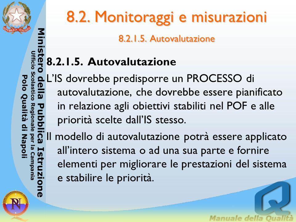 8.2. Monitoraggi e misurazioni 8.2.1.4. Misure economico-finanziarie 8.2.1.4. Misure economico-finanziarie LIS dovrebbe elaborare un modello per corre