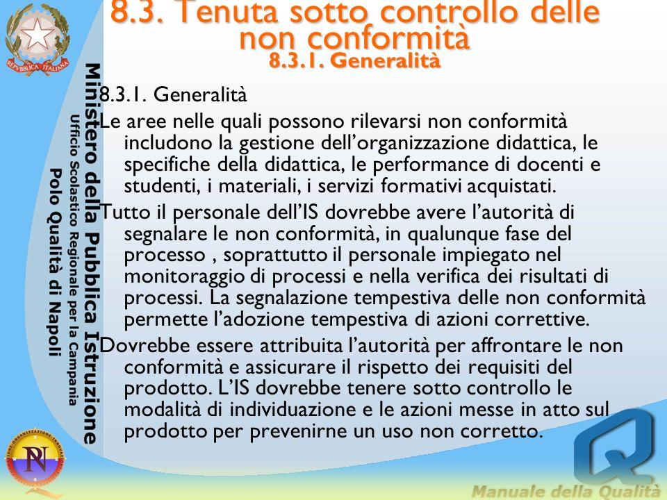 8.2. Monitoraggi e misurazioni 8.2.4. Monitoraggio e misurazioni della soddisfazione delle parti interessate LIS dovrebbe valutare la capacità a raggi