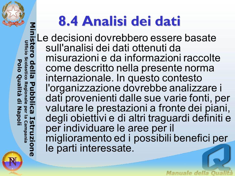 8.3 Tenuta sotto controllo delle non conformità 8.3.2 Riesame e trattamento delle non conformità La Direzione dellorganizzazione dovrebbe assicurare c