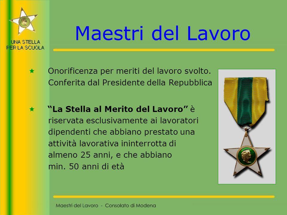55 Maestri del Lavoro - Consolato di Modena RIFLESSIONI