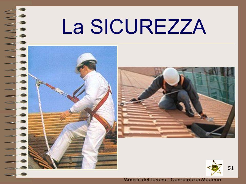 51 Maestri del Lavoro - Consolato di Modena La SICUREZZA
