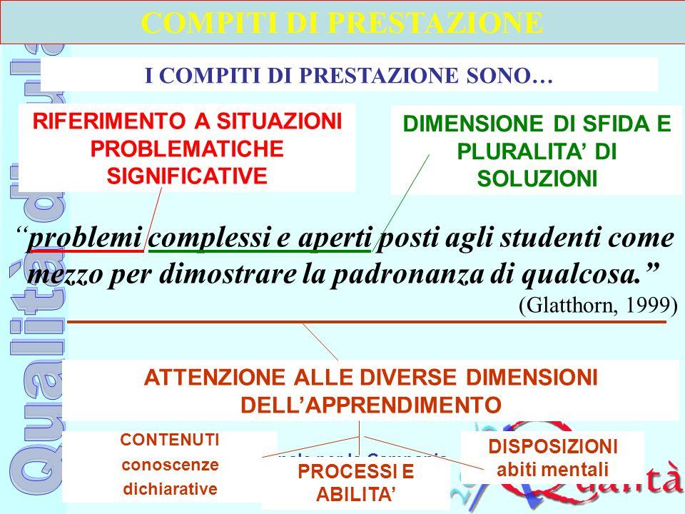 Ufficio Scolastico Regionale per la Campania Polo Qualità di Napoli problemi complessi e aperti posti agli studenti come mezzo per dimostrare la padro