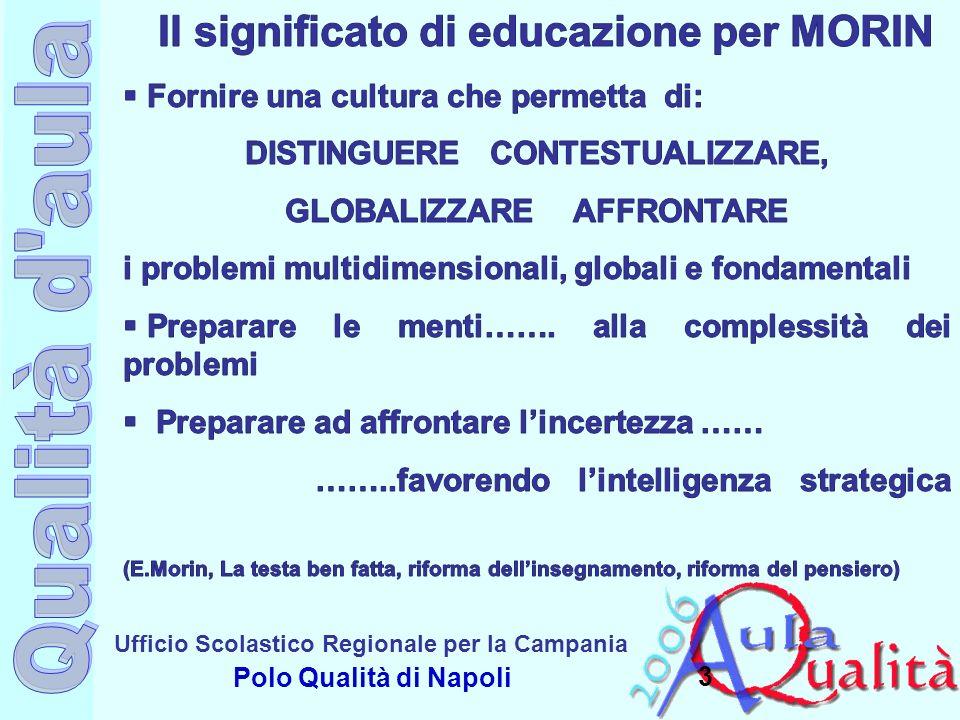 Ufficio Scolastico Regionale per la Campania Polo Qualità di Napoli A quali scelte fa riferimento laboratorio Didattica delle competenze Centralità dei problemi Valorizzazione dei diversi stili di apprendimento Costruzione del sapere Metodologia della ricerca